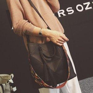 Bolsos de diseño de moda 2 Sets Bolsa de lujo geométrica empalme Compuestos Cucharas Bolsas de marca famosa Bolsas de hombro de las mujeres Bolsas de mensajero