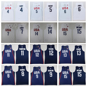 Mens 2016 USA Jersey Dream-Team Basketball 4 Jimmy Butler 5 Kevin Durant 6 LeBron James 10 Kyrie Irving Paul George Carmelo Anthony