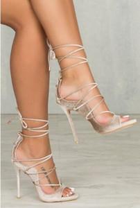 Элегантный Python печатных змеиной кожи кожаные сандалии Peep Toe шпильках Гладиатор сандалии женщина босоножки ремешками платье обувь
