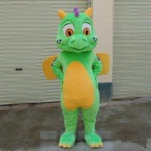 2018 de alta qualidade tamanho adulto dos desenhos animados verde dianossauro traje da mascote do natal do dia das bruxas aniversário dianossauro carnaval dress