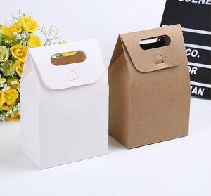 10 * 6 * 16см Gift Box Крафт Craft сумка с ручкой Мыло Конфеты Хлебобулочные Cookie Печенье Упаковка коробки бумаги SN1503