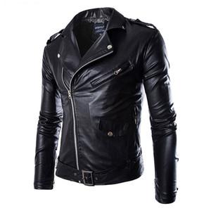 Veste en cuir Mode pour hommes Manteau Biker Veste Homme Jaqueta De Couro Masculina en cuir PU Hommes Punk Veste Cuir