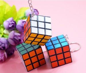 Mini Magic Cube Puzzle Llavero Juego mágico mágico Llavero cuadrado aprendizaje educativo juego del cubo buen regalo juguetes llaveros libres DHL