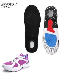 KLV Unisex Silicone Foot Gel Plantillas Almohadillas Ortesis Arco Soporte Zapato Pad Tamaño 35-40
