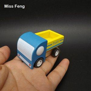 Juguete de madera para niños Entrega exprés Coche Pull Inertia Transporte Modelo de Camión Juego Educativo Enseñanza Juguete de Regalo