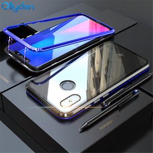Magnetische Adsorption Phone Case Für Xiaomi mi 8 Fall Luxus Magnet Gehärtetem Glas Abdeckung Für Xiaomi mi 8 Explorer Edition mi8 Fall