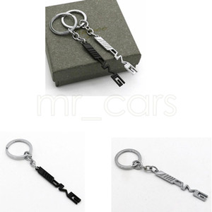 Key Holder Auto Car Styling Car Key Ring Key Chain AMG Badge Car Emblems For Mercedes Benz A45 SLS AMG E63 GGA521