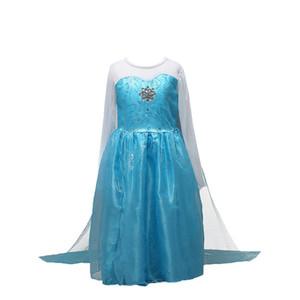 Yeni Moda Stil Mavi Prenses Kız Parti Cosplay Elbiseler Cadılar Bayramı Partisi Kız Noel Elbiseleri Kız Için