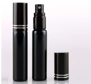10ML Refill Bottle Mini Portable Perfume Atomizer Spray Bottles Empty Bottles Cosmetic Containers Black Gold Color