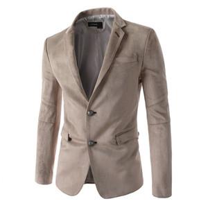 [La MaxPa] новый мужской замши блейзер повседневная Slim Fit куртки двойная кнопка блейзеры мужской костюм пиджаки свадебные бизнес пальто