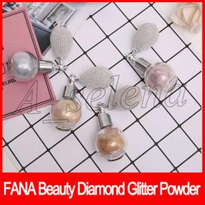FANA Beauté Diamant Paillettes Poudre Fana Vaporisateur avec airbag Beauté Surligneur Shimmer Visage poudre poudre fard à paupières poudre libre 4 couleurs