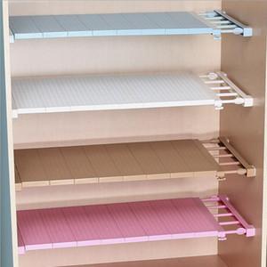 조정 가능한 옷장 정리 도구 벽 장착 주방 보관 선반 공간 절약 옷장 내각 보관 랙 욕실 정리 도구