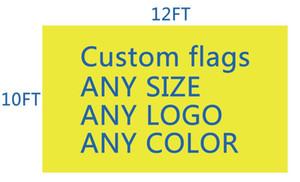 DHL frshpping كرة القدم فريق / نادي العلم العرف جعل 10x12 قدم الرقمية طباعة 100d البوليستر قماش حريري العلم العرف