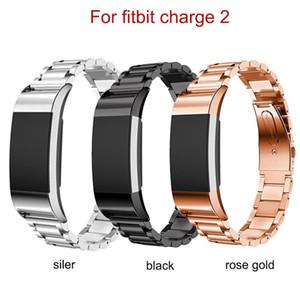 Fitbit Charge2 / 3 / 4 Unisex Strap Hotsale 금속 끈을위한 스테인레스 스트릴 밴드 어댑터 커넥터가있는 Fashional Watch Band 무료 배송