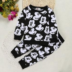 Kindersportanzug Für Jungen Cartoon Print Pullover Freizeithosen Baby 1-4 jahre Kinderkleidung T-shirt Set Kleidung