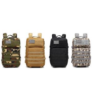 À l'extérieur des deux épaules Tactical Gear Backpack Haute Capacité Hommes Femmes Étanche Oxford Chasse Camping Multi Purpose Sacs 65lp bb