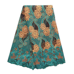 Women French African Lace Swiss Guipure 2018 Purple Latest Nigerian Lace Fabrics High Quality Africa Teal Green Lace Fabric