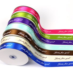 Ribbon JUST FOR YOU 1 Inch 45Meters Printed Silk Satin Ribbon For Wedding Party Decoration Invitation Card Gift Wrapping Gift Wrap