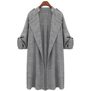New Fashion Autunno Primavera Donna Open Front Coat Long Cloak Giacche Overcoat Waterfall Cardigan Female Blusas