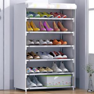 HHAiNi Zapatillas a prueba de polvo Almacenaje de perchas Armario de zapatos de algodón Organizador de racks de torre con puertas con cremallera
