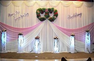 20 피트 * 10 피트 우유 흰색 웨딩 배경 파티 파티 커튼 축하 공연 배경 Drape Wall valance backcloth Wedding Favo