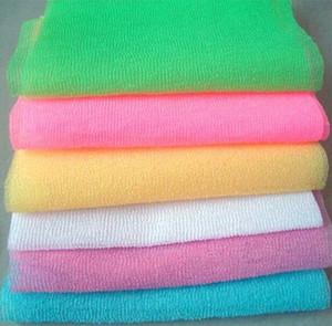 O banho de nylon do banho do chuveiro da malha que lava limpa o Esfoliate sopro que esfrega Scrubbers de pano de toalha