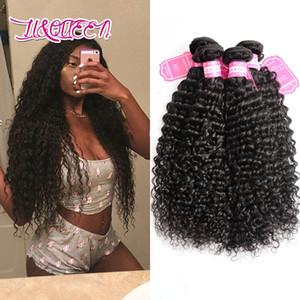 Бразильские девственные наращивание волос 4 пучки двойной утки глубокая волна вьющиеся человеческие волосы продукты ткать естественный цвет 8-28 дюймов 4 шт./лот вьющиеся