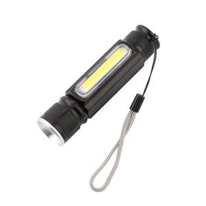 Práctico USB Potente COB LED Linterna con Zoomable Antorcha Recargable USB Imán Flash Luz de Bolsillo Lámpara de Camping Incorporada 18650