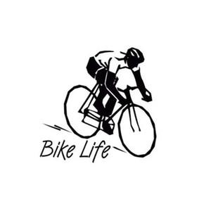8.8*8.9CM bike life healthy style car decal sticker black silver CA-56