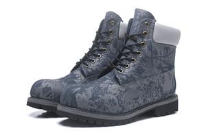 2018 Bottes classique camouflage bleu zoo hommes confortable course Sports Sneakers Casual Travailler Randonnée Hiver Chaussures de Mode taille 40-45