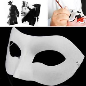 El Çizim Kurulu Katı Beyaz DIY Zorro Kağıt Maske Boş Maç Maske Okullar Için Mezuniyet Kutlama Cosplay Parti Masquerade WX9-495