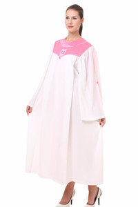 Christian costumes for adults psalm robes long church clothing for adults black friday white robe Pink white Nun sing wear