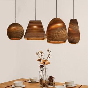 Modern southeast Asian wind naked pupa honeycomb pendant lamps restaurant cafe aisle bar decor pendant light single head lamps