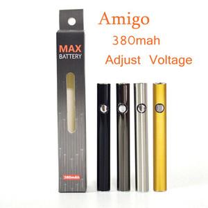 Amigo Max Vape Batterie 380mAh Tension Variable Batterie Charge Inférieure Pour Stylo Vaporisateur À 510 Filets