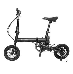 Ideawalk F1 36 V 250 W Fırçasız Motor 12 Inç Siyah Katlanabilir Elektrikli Bisiklet 25 km / saat 60 KM Mil