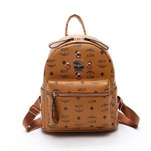 S65 Kids Girls Luxury Rivet Girl bag School Bags PU leather Fashion Famous designers backpack women travel bag women backpacks Luxury bag