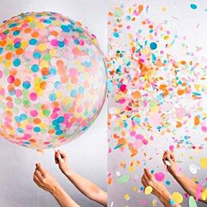Kind-Geschenk 5pcs 36inch Große Confetti-Ballon-Mehrfarbenlatexballons-Geburtstags-Party Romantische Hochzeit Dekoration Partyangebot