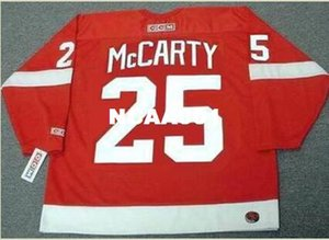 Mens # 25 DARREN McCARTY Detroit Red Wings 2002 CCM Vintage Home Hockey Jersey o personalizzate qualsiasi nome o numero Retro Jersey