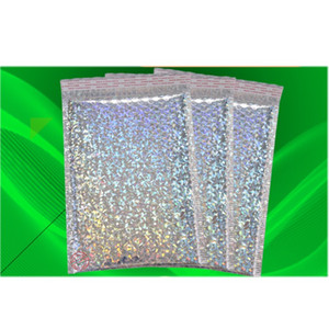 Holografik Film Poli Kabarcık Mailer Şerit Express Ambalaj Çanta Taşınabilir Renkli Aluminizer Ev Depolama Bubbles Çanta 0 89xr bb