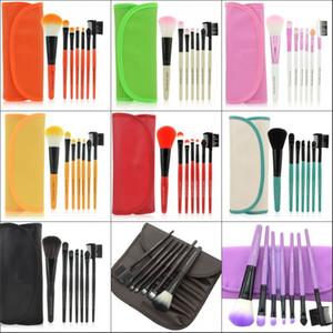 Hot Pro Women Beauty Beauty Brushes 7 pezzi Set polvere fondotinta ombretto eyeliner strumento pennello per labbra