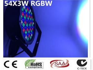 Luci levou par 54x3 W DJ Par LEVOU RGBW Wash Discoteca effetto Controlador Luce DMX Spedizione Gratuita