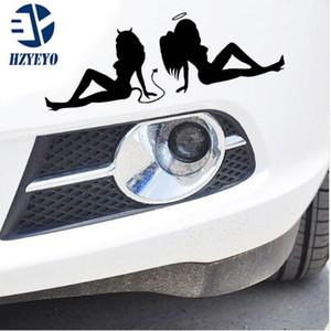 N-519 calcomanías para automóviles reflexivo belleza tentación de ángeles y demonios personalizados