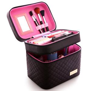 Kadınlar Kozmetik Kutusu Yüksek Kaliteli Taşınabilir Kozmetik Çantası Büyük Kapasiteli PU Çanta Bayan Makyaj Tlan01 Dedicated