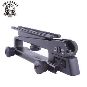 Metallo staccabile trasportano la maniglia con vista doppia apertura posteriore Ferro Picatinny del supporto della guida meccanica vista posteriore per M4 M16 AR15