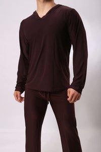 Hot Mens Nachtwäsche Männlich Pyjama Pants Viskose Nachtwäsche Pyjama Hosen Set Man Lounge Hosen Kigurumi Nachtwäsche Freizeitkleidung
