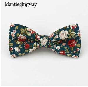 Mantieqingway популярные галстуки-бабочки хлопок цветочные Neckwear Bowtie для мужчин костюм галстук-бабочку для мужской свадьбы модные аксессуары