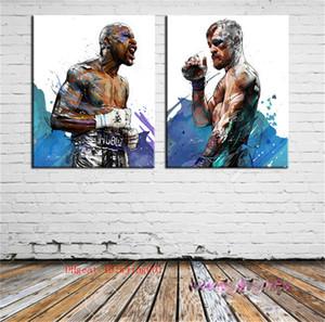 Mayweather Vs McGregor, Tuval Adet Ev Dekorasyonu HD Baskılı Modern Sanat Tuval Üzerine Boyama (Çerçevesiz / Çerçeveli)