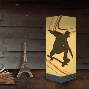 Skateboard-Papier Schatten Night USB-Leuchten Indoor-Hauptdekoration Lampen Schreibtisch-Tabellen-Licht als Geschenk für Kinder Großhandelsdropshipping