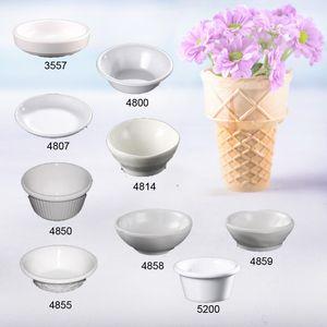 Imitation Porcelain Melamine Dinnerware Round Sauce Dish Chain Restaurant Melamine Plate A5 Melamine Tableware Dinner Plate