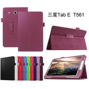 Tri-Folding caso di vibrazione del cuoio della copertura del litchi per Samsung Galaxy Tab 9.6 e T560 T561 SM-T561 Tablet stand protettiva della pelle Shell